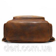 Рюкзак винтажный для ноутбука Vintage 14712 кожаный Коричневый, Коричневый, фото 3