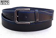 Мужской ремень King Belt кожаный, фото 1