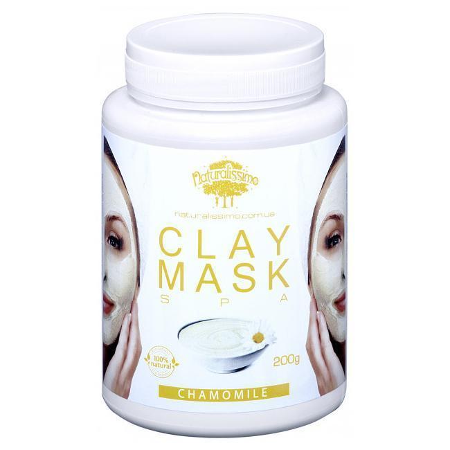 Глиняная маска с ромашкой