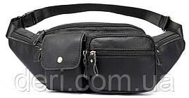 Поясная сумка флотар Vintage 14740 Черная, Черный