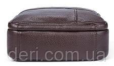 Сумка мужская флотар Vintage 14759 Коричневая, Коричневый, фото 2