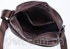 Сумка мужская флотар Vintage 14759 Коричневая, Коричневый, фото 3