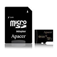 Карта памяти Apacer 64GB microSDXC class 10 UHS-I (с адаптером) (AP64GMCSX10U1-R)