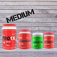 Комплект Здоровье и функциональность MEDIUM (протеин, аминокислоты, жиросжигатель, комплексный витамин)
