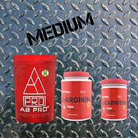 Комплект Жиросжигание (рельеф) MEDIUM (система для похудения, аминокислоты, жиросжигатель)