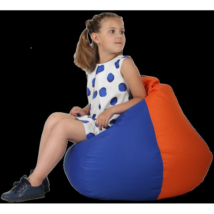 Кресло-мешок Синее с Оранжевым 60х90