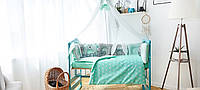 """Большой набор постельного белья с подушками и одеялом в кроватку """"Лесные звери"""" в расцветках"""