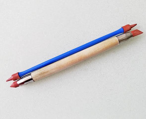Стеки для лепки с жестким резиновым наконечником (2 шт.,размер M). Для глины, воска, мастики