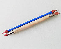 Стеки инструменты для лепки силиконовые кисти-для работы с глиной,воском,мастикой (2 шт.,размер S)