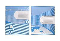 Тетрадь 12 лист. линия двухцветная обложка, в ассортименте