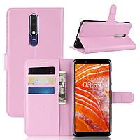 Чехол IETP для Nokia 3.1 Plus / TA-1104 книжка кожа PU розовый, фото 1