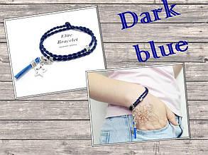 Браслет Синій шовк