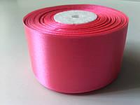 Лента атласная ярко-розовая 50 мм бобина 23 м