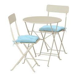 САЛЬТХОЛЬМЕН, Стол+2 складных стула,д/сада - ТОП ПРОДАЖ