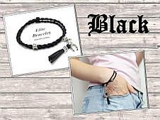 Браслет Черный шелк, фото 2