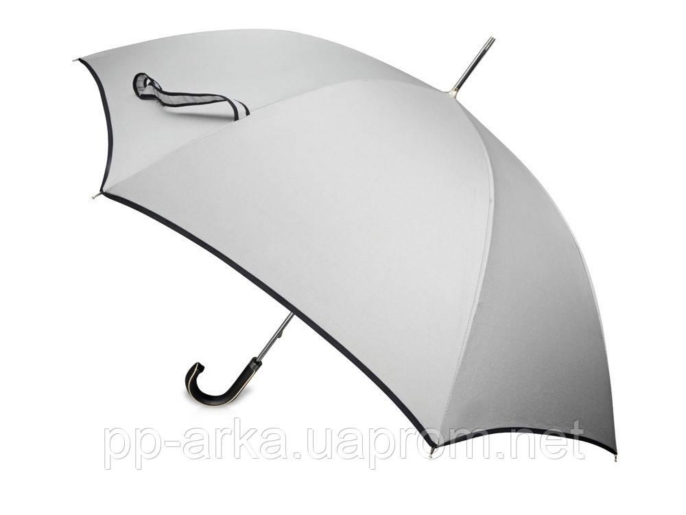 Купить Зонт трость Ривер, механический 23, серебристый/черный