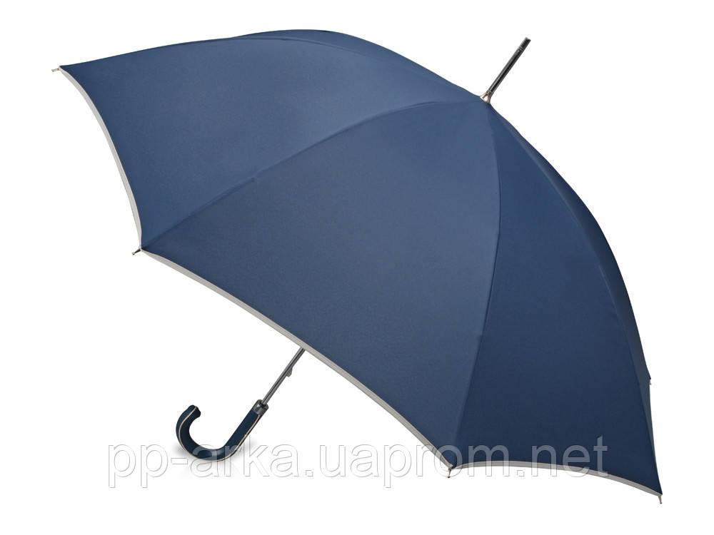 Купить Зонт трость Ривер, механический 23, темно-синий