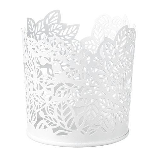 ИКЕА (IKEA) SAMVERKA, 503.887.15, Подсвечник для греющей свечи, белый, 8 см - ТОП ПРОДАЖ