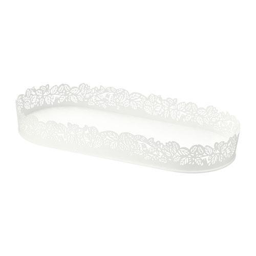 ИКЕА (IKEA) SAMVERKA, 503.887.20, Подсвечник для формовой свечи, овальной формы белый, 35x15 см - ТОП ПРОДАЖ