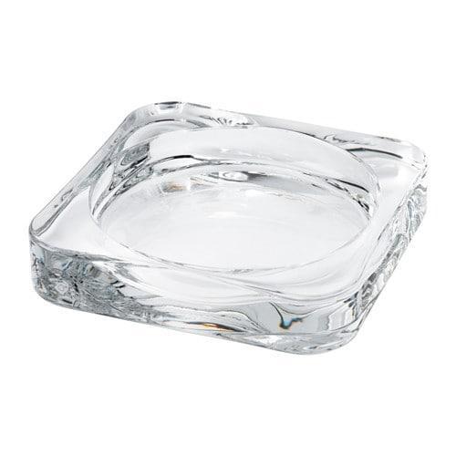 ИКЕА (IKEA) ГЛАСИГ, 602.591.43, Подсвечник для формовой свечи, прозрачное стекло, 10x10 см - ТОП ПРОДАЖ