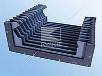 Гофрированная защита направляющих станка плоская и угловая