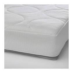 ИКЕА (IKEA) JÄTTETRÖTT, 403.210.04, Матрас с пружинами карманного типа для детской кроватки, белый, 60x120x11 см