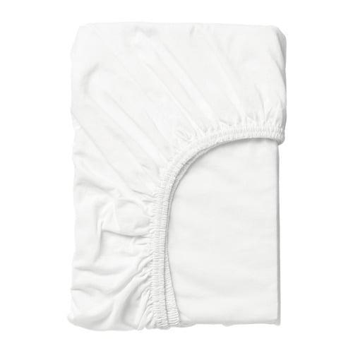 ИКЕА (IKEA) ЛЕН, 701.286.13, Простыня натяжная, белый, 70x160 см - ТОП ПРОДАЖ