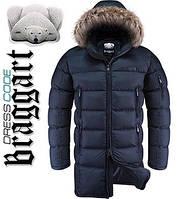 Куртка удлиненная зимняя Dress Code - 3741A темно-синяя