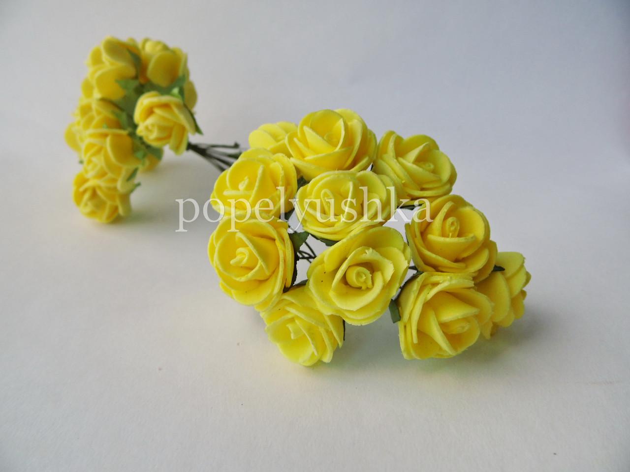 Троянди латексові  жовті 2 см