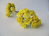 Троянди латексові  жовті 1,5 см
