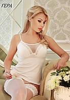 Трикотажная женская майка, вставки из сетки и кружева ГЕРА FLEUR Lingerie