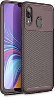 Чехол-накладка TOTO TPU Carbon Fiber 1,5mm Case Samsung Galaxy A40 Coffee #I/S