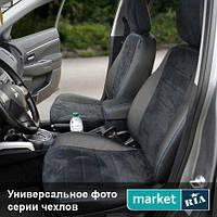 Чехлы на сиденья Ford S-Max из Экокожи и Алькантары (AVTOMANIA), полный комплект (5 мест)