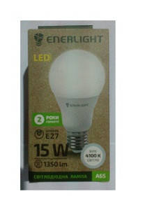 Стандарт Лампа светодиодная ENERLIGHT A65 15Вт 4100K E27