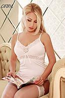 Женская трикотажная майка с кружевами, V образный вырез ОПРА FLEUR Lingerie