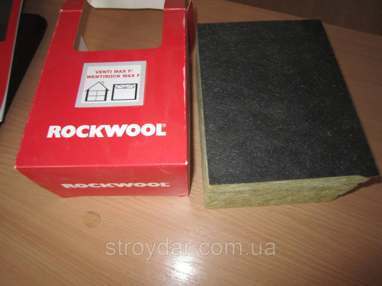 Утеплювач базальтовий Rockwool Wentirock max 100мм (на вентильований фасад)