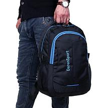 Рюкзак шкільний Daren унісекс Чорний з синім, фото 2