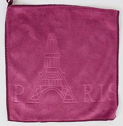 """Набір рушників """"Ейфілева вежа Париж"""" мікрофібра 25*25см (код706-1)"""
