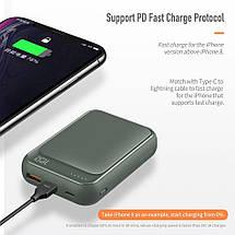 Power bank (Внешний аккумулятор) Mini PD Rock 10000mAh P65 с Quick Charge 3.0 (Navy), фото 3