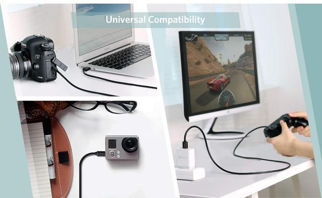 Кабель Mini USB Ugreen US132 для зарядки и передачи данных Черный 0.5м 1м 2м 3м
