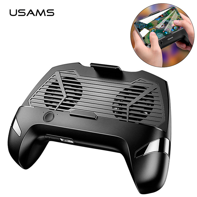 Джойстик для смартфона USAMS US-ZJ037 Cooling Gamepad с функцией охлаждения и зарядки (Черный)