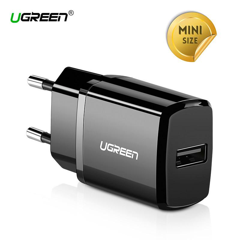 Универсальное сетевое зарядное устройство Ugreen ED011 5В 2.1А USB (Черное)