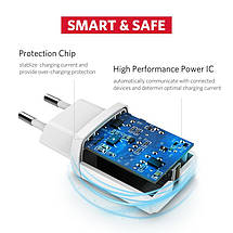 Универсальное сетевое зарядное устройство Ugreen ED011 5В 2.1А USB (Черное), фото 3