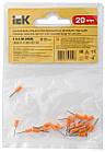 Наконечник-гільза Е0508 0,5мм2 (оранжевий, 20шт) IEK UGN10-4-D05-02-08, фото 4