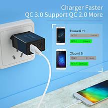 Универсальное сетевое зарядное устройство Essager Quick Charge 3.0 Qualcomm ECCQC-LL01 (Черное), фото 3