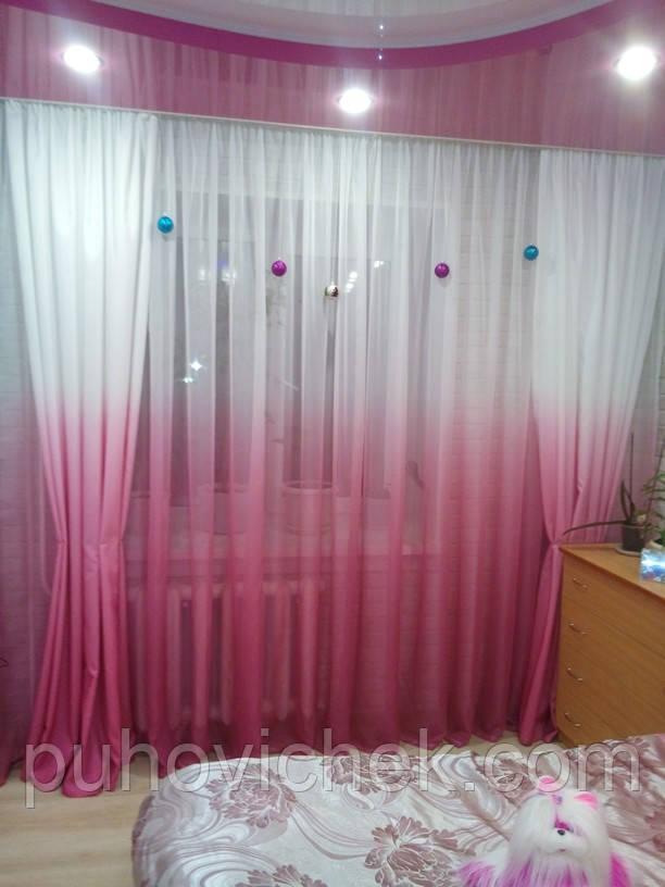 Красивый комплект штор для гостиной