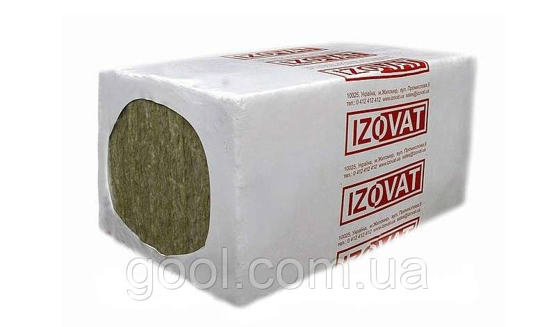 Изоват 30 базальтовая вата для кровли 1000х600х100 мм в упаковке 3 м2