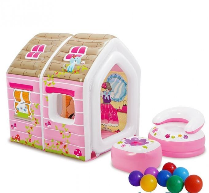 Надувной игровой центр-домик Intex 48635 Princess