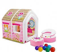 Надувной игровой центр-домик Intex 48635 Princess, фото 1