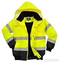 Куртка сигнальная утепленнаям C465, большой ассортимент цветов